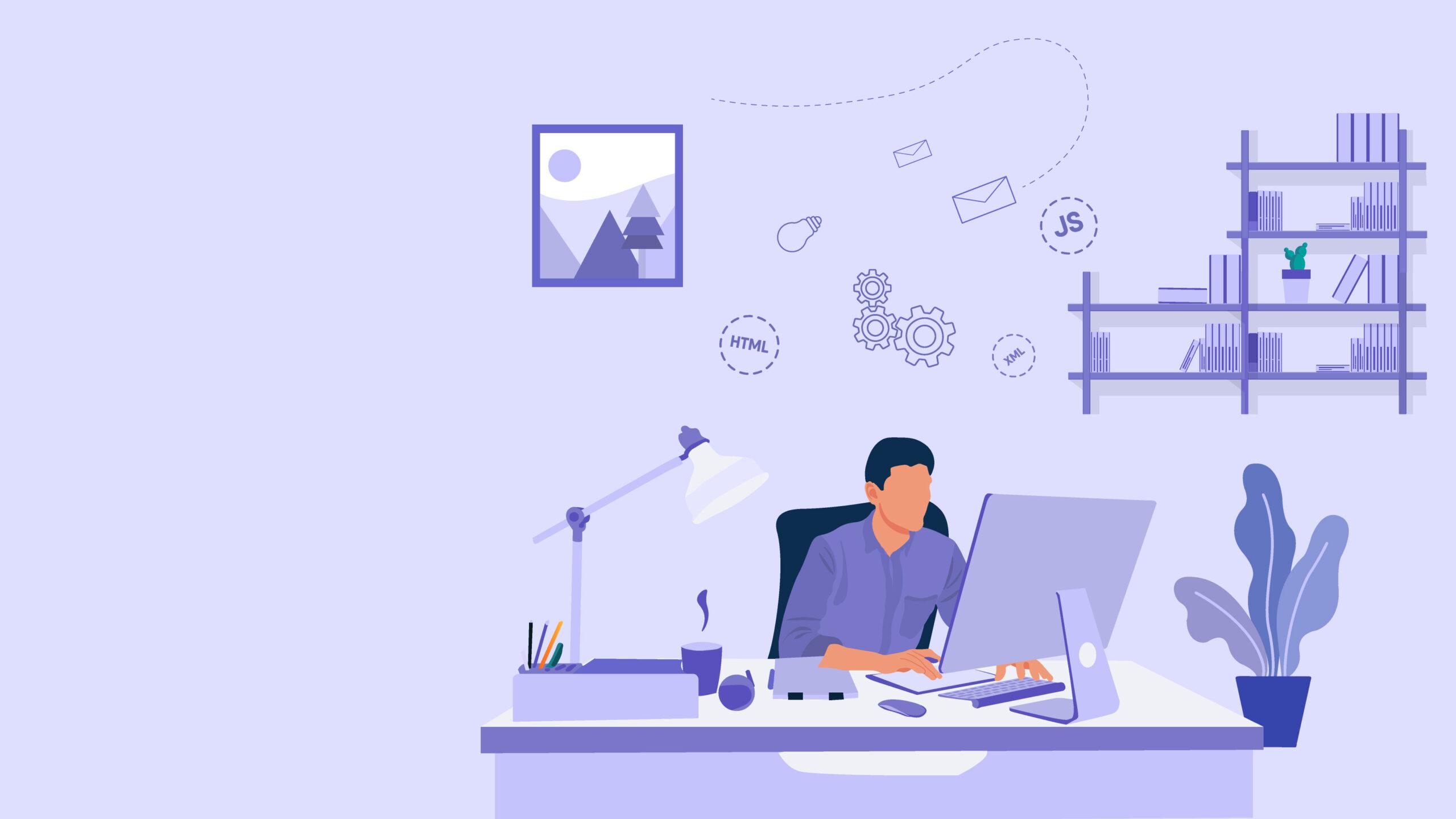 Imagen de una persona trabajando